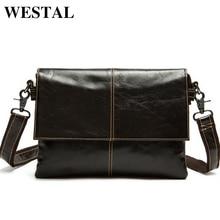 WESTAL Echtes Leder Männer Tasche Messenger Bags Schulter Crossbody Taschen für Mann Handtasche Casual männer Leder Tasche Heißer verkauf