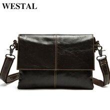 WESTAL Genuine Leather Men Bag Men Messenger Bags Shoulder Crossbody Bags for Man Handbag Casual Men's Leather Bag Hot Sale