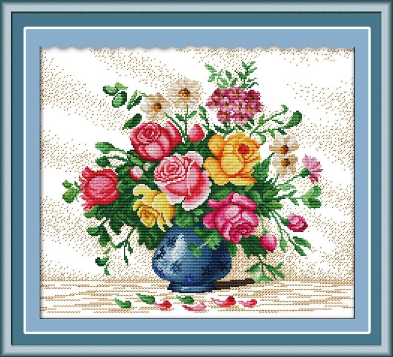 Krásné vázy sady křížových stehů 11CT tištěné 14CT sady kutilské čínské bavlny vyšívané výšivky vyšívání