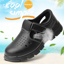 Men's Summer Safety Shoes Steel Toe Safety Anti-smashing Breathable Work Shoes Protective Footwear