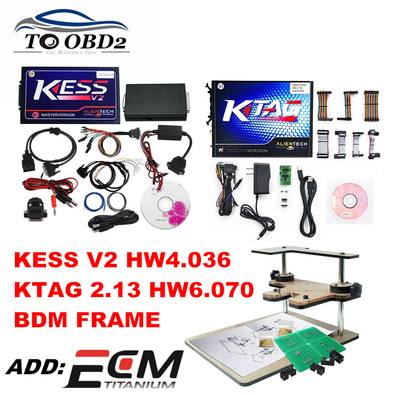 Цена за Оптовая продажа OBD2 менеджер комплекты KESS V2 новые V2.30 HW4.036 Новый KTAG ЭБУ Добавить BDM функции SW2.13 HW6.070 без ошибки контрольной суммы K-люкс