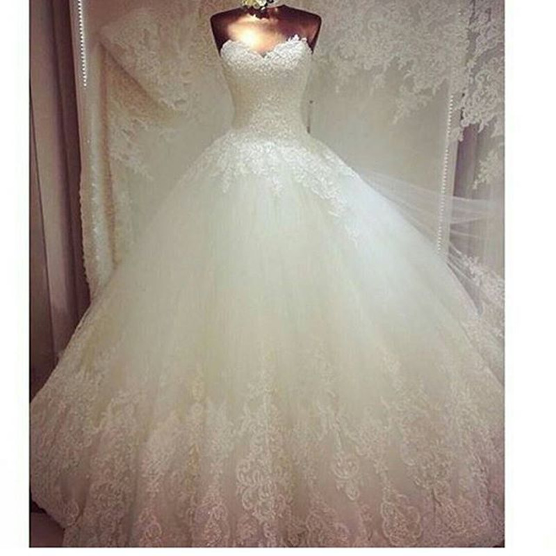 Custom Lace Lace Sweetheart Sleeveless Tulle Bridal gown 2018 Hot Sale Vestido De Novia brides mother of the bride dresses