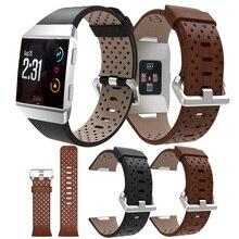 Bracelet de Sport de remplacement pour Fitbit Bracelet ionique en cuir perforé accessoire Bracelet Bracelet Bracelet de montre Bracelet de montre intelligente
