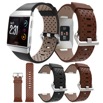 Replacement Sport Band For Fitbit Ionic Strap Perforated Leather Accessory Band Bracelet Watchband wristband Smart watch Straps for fitbit ionic sport watches straps silicone strap watch band bracelet replacement for fitbit ionic smart watch wristband belt