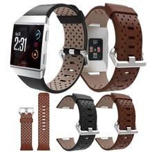 Vervanging Sport Band Voor Fitbit Ionische Riem Geperforeerde Lederen Accessoire Band Armband Horlogeband Polsband Smart Horloge Bandjes
