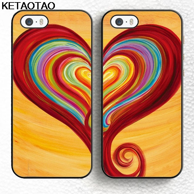 a033958c57b2e KETAOTAO Set of 2 BFF Best Friend Twin Set Love Hearts Couple Phone Cases  for iPhone 4 5S 6S 7 8 Plus X Soft TPU Rubber Silicone