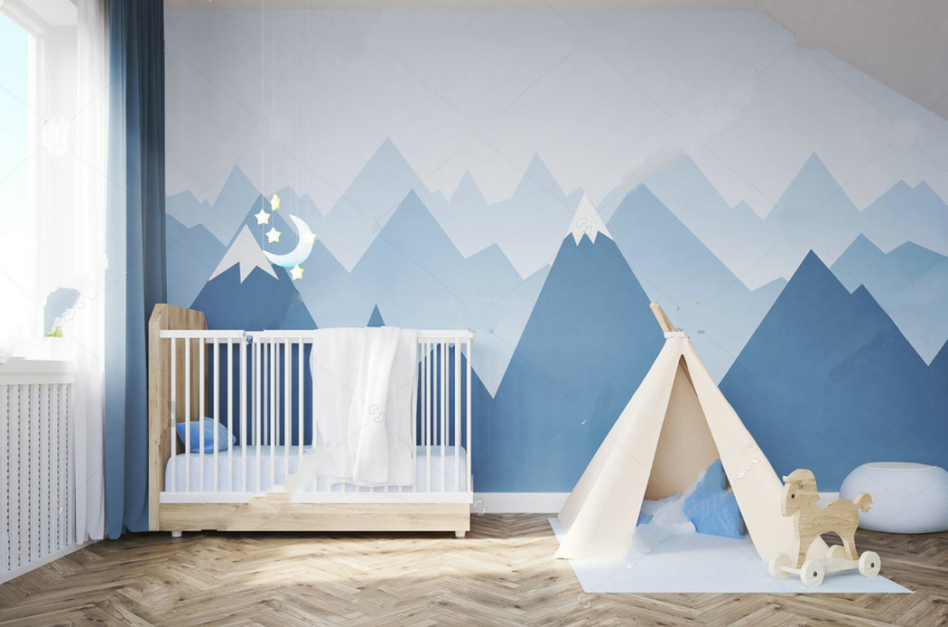 Camera & Photo Babys Room Bed Tent Mountains Window Photo Backdrop Vinyl Cloth High Quality Computer Print Wall Photo Studio Background Be Friendly In Use Consumer Electronics