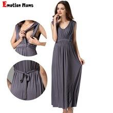 Emotion moms damskie długie letnie sukienki wieczorowe macierzyństwo karmienie piersią ciąża sukienki dla kobiet w ciąży kobiet