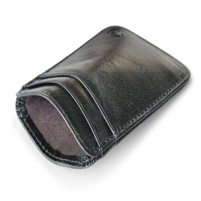 Slim Credit Card Holder Mini Wallet ID Case Purse Bag Pouch Black ...