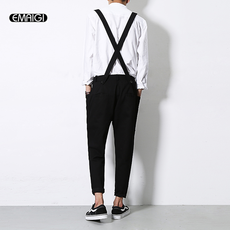 Férfi Jumpsuit Új nyári őszi alkalmi Harem nadrágok nadrág nadrág kabátok Férfi divat Hip-hop nadrág Jumpsuit A92