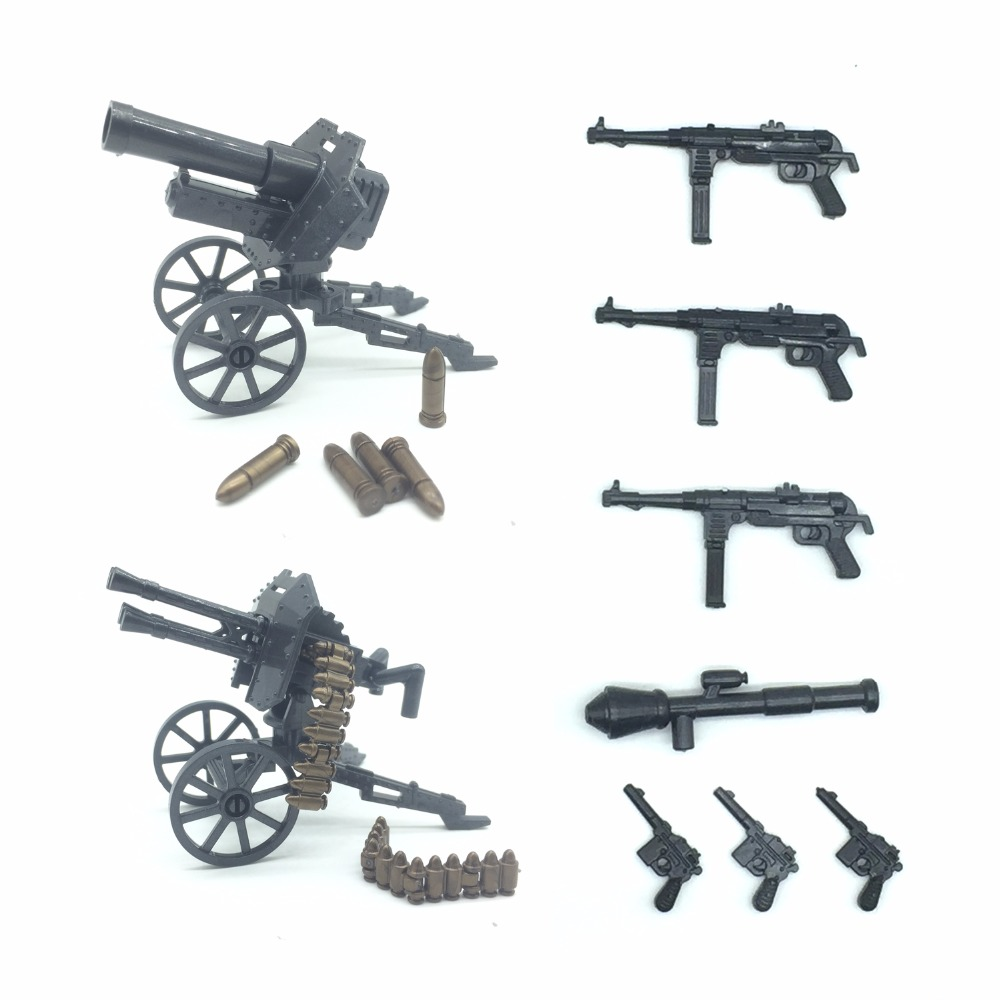 Koolfigure Custom Weapons Pack Artillery Machine Guns for Military Bricks Figures/Building Blocks Toy Accessories