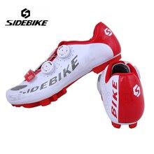 Sidebike zapatillas de ciclismo en bicicleta de montaña profesional bike s2-snap perilla racing athletic shoes mtb transpirable zapatos autoblocantes