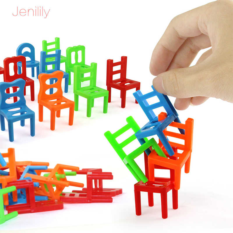 Table Board Family Game Balance Chairs Adult Kids Stacking Game Child Interact A