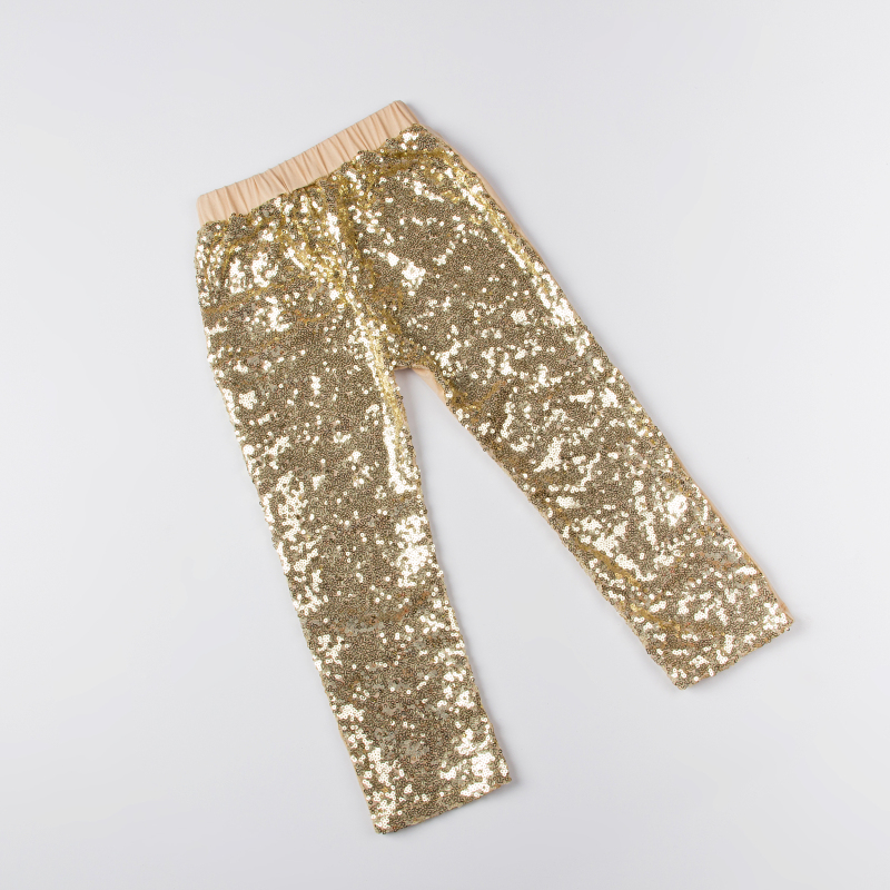 New Popular Gold Sequins Baby Pants Fashion Bling Shiny