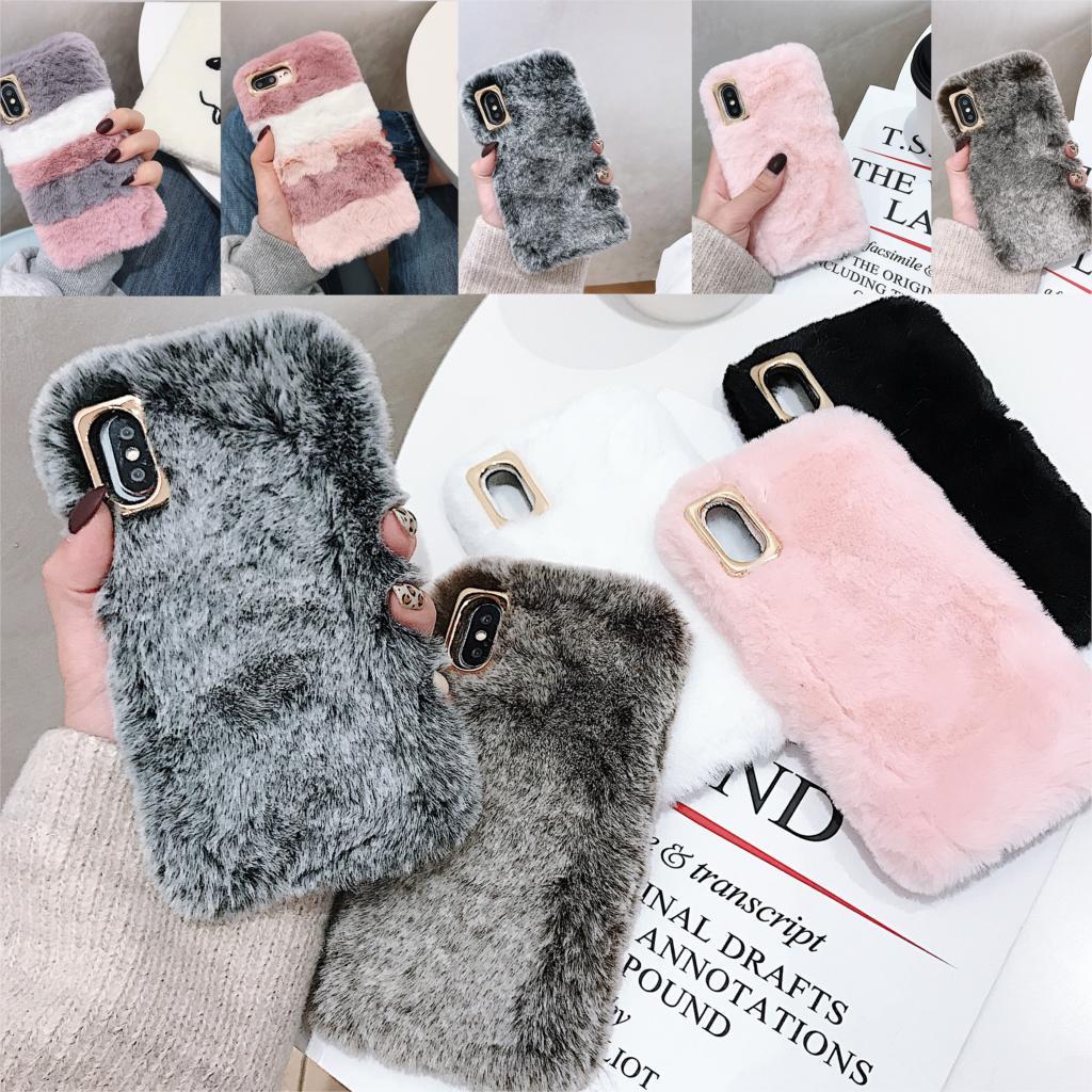 Rabbit Cases For Xiaomi Redmi Note 7 6 5 Pro 3 2 Redmi 7 6 6A 5A S2 Y2 4A 4X 3X 3S Plush Stripe Covers Mi Black Shark 2(China)
