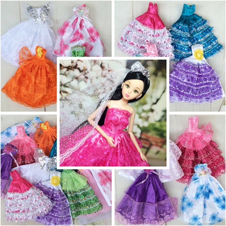 Handmake wedding dress fashion clothing gown for baby doll for Baby doll style wedding dress