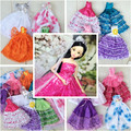 Handmake Wedding Dress Fashion Clothing Gown For Baby Doll Princess Outfit Clothes For Girls' Gift Random 4PCS/Lot