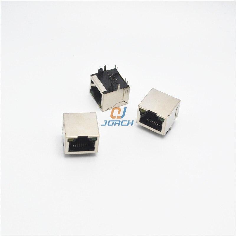 10Pcs RJ45 Network Ethernet 8P8C Female Socket Connector 8Pin PCB Mount jES