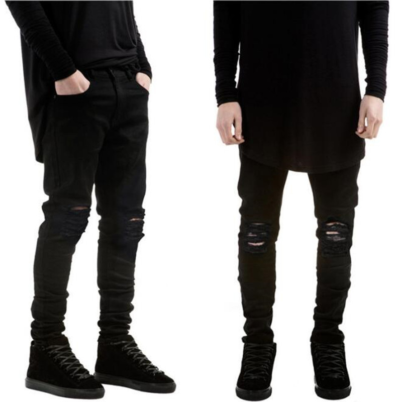 Popular Black Destroyed Jeans-Buy Cheap Black Destroyed Jeans lots ...