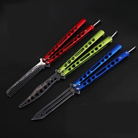 Butterfly In Knife Folding One piece Steel Handle Butterfly Knife Practice Professional Safe Practice Trainer No Sharp Dull Tool
