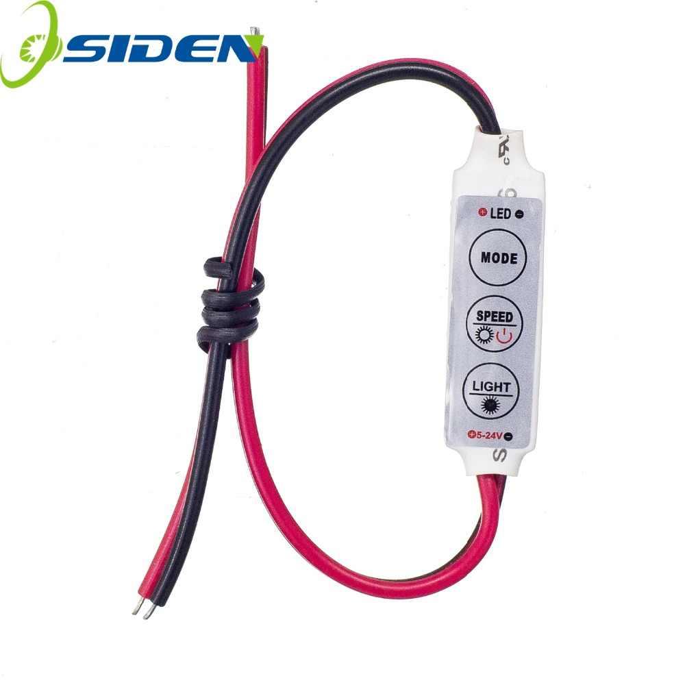 Диммер контроллер одного цвета светодиодный DC 12 V 3 Ключи для одного Цвет 5050 3528 5630 5730 3014 светодиодные ленты лампы освещения света