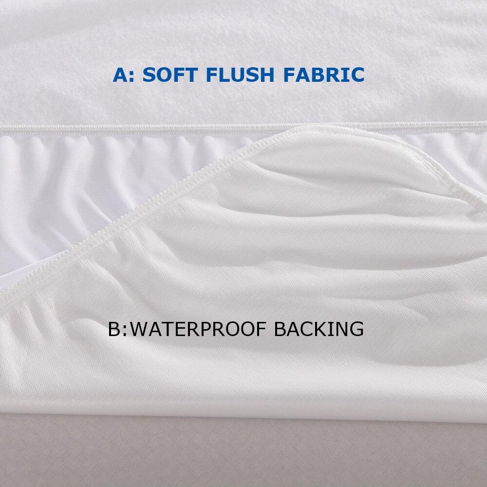 150x200cm 100% Waterproof and Breathble Soft fleece plush cloth Waterproof Mattress Protector Mattress Cover pad A