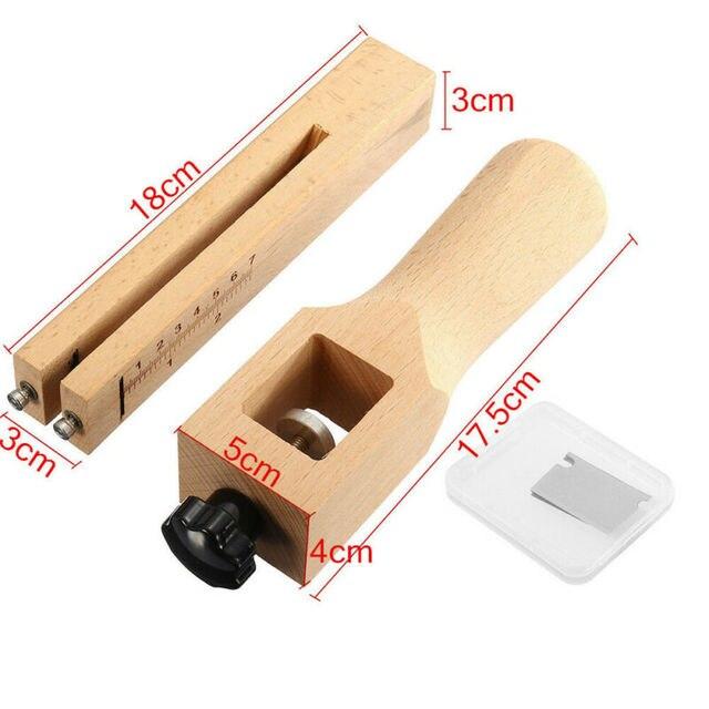 Outils de coupe à main en cuir | Outil de coupe de bande et de sangle ajustable en bois américain