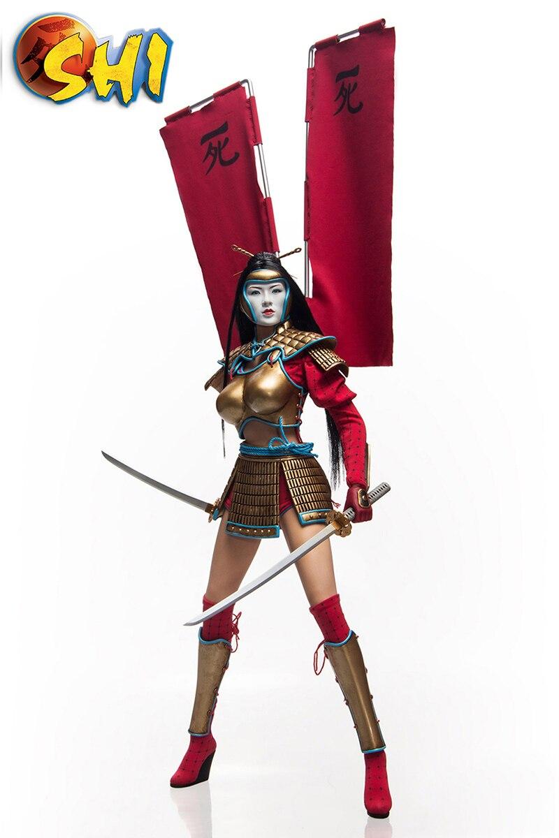 Pour Colelction 1/6 échelle ensemble complet PL2014-71-C Kunoichi SHI modèle de figurine d'action avec deux têtes dans l'armure de combat pour les cadeaux des Fans - 3