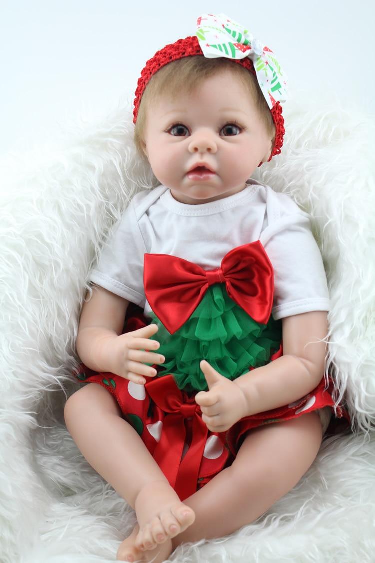 Free Shipping 2017 Real Lifelike Baby Reborn Princess Newborn Babies Dolls Children Birthday Xmas Gift