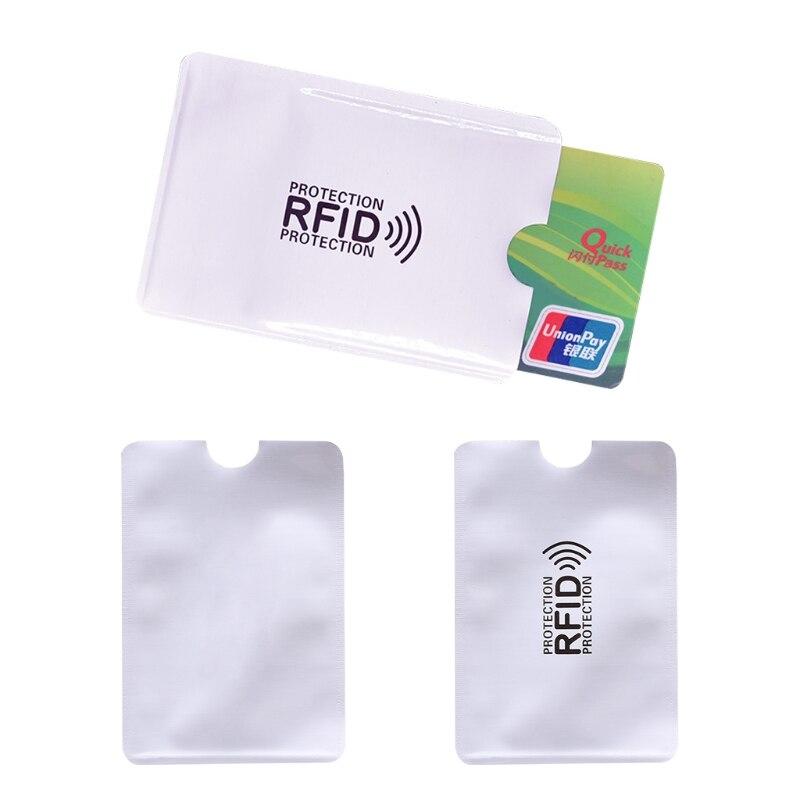 THINKTHENDO New Business Credit Card Holder RFID Blocking Sleeve Protector Shield Holder Case etya bank credit card holder card cover