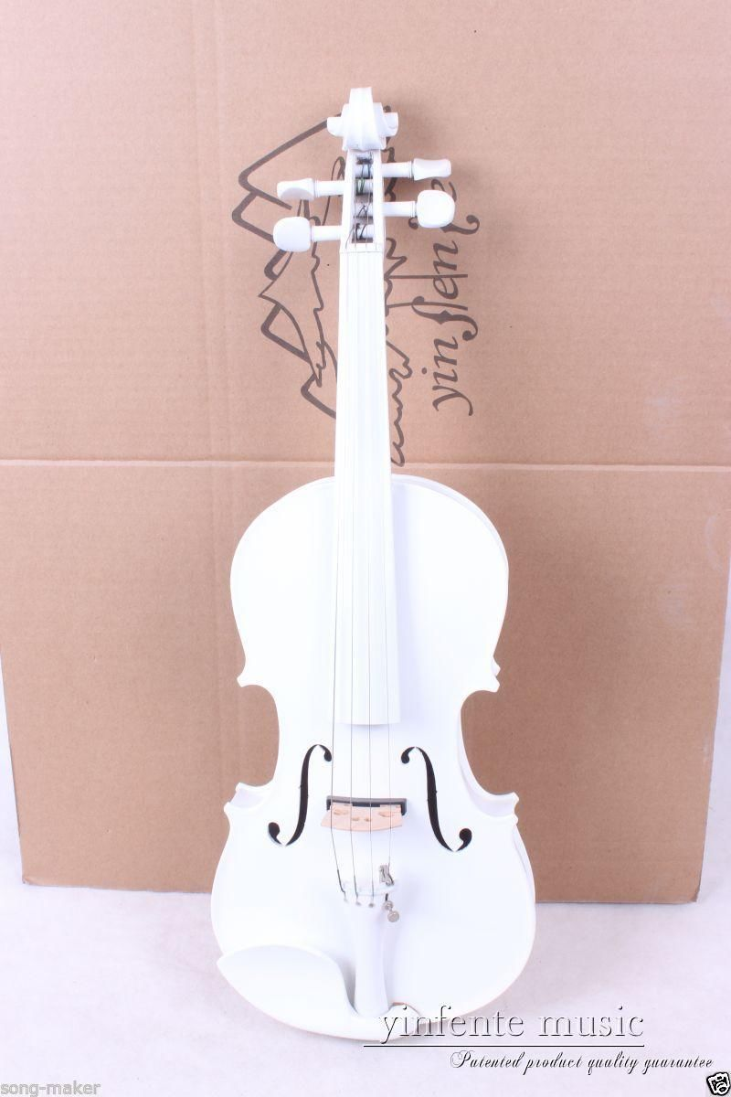 New 4/4 Electric Violin Powerful Sound High quality Nice Sound white #1-5