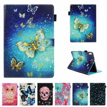 Cute Butterfly Owl  Skull Case For Lenovo Tab 4 10 TB-X304L TB-X304F TB-X304N X304 10.1 Tablet Protective Cover Fundas for 10 1 lenovo tab 4 tb x304l tb x304f tb x304n tb x304 x304 touch screen panel digitizer glass lcd display matrix assembly