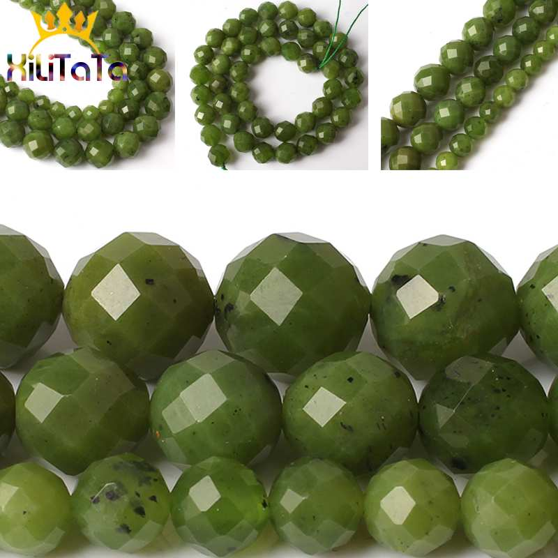 Wholesale Jade Gemstone Round Loose Spacer Beads Jewelry Making DIY 6//8//10mm