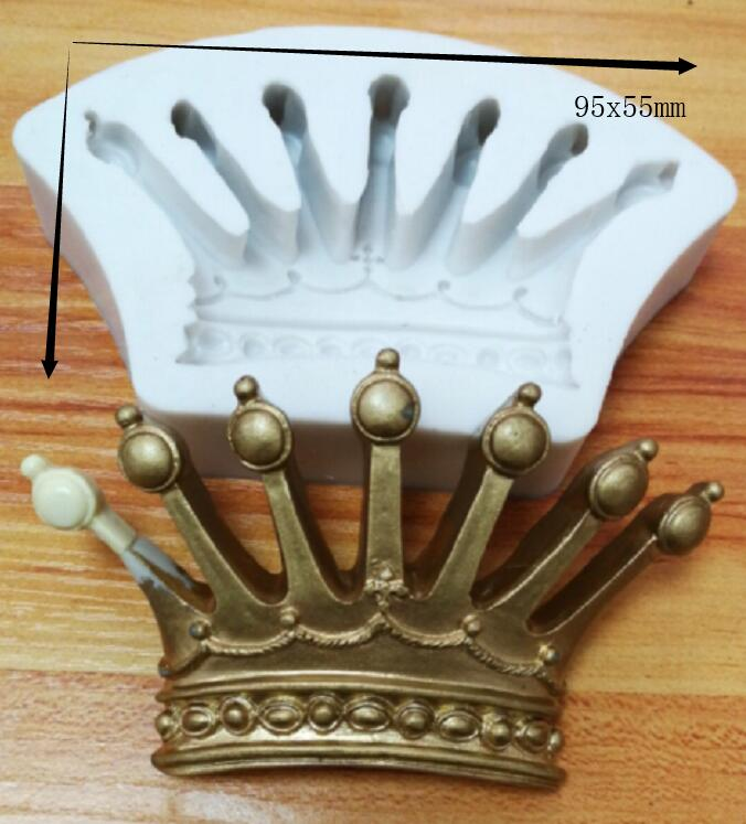 Silicone Mold royal crown silicone mold mould sugar craft fondant cake decorating animal mould baking tool