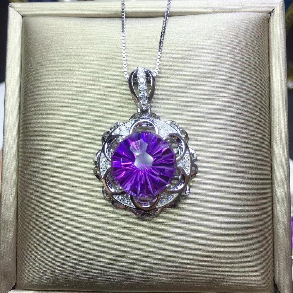 purple amethyst  gemstone pendant for necklacepurple amethyst  gemstone pendant for necklace