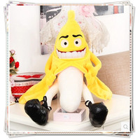 Banana Cushion Stuffed Vegetables Cupcake Doll Fruit Plush Toys Sleeping Pillows Smile Face Plush Sleeping Pillow