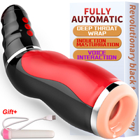 Multi frequency Deep throat sucking Vibrator for men penis Oral sex machine Male Masturbator for man Silicone pocket sex pussy