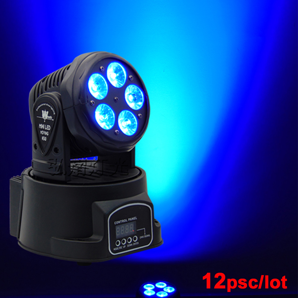 (12 pieces/lot) RGBWA+UV Beam 5*18W Wash Moving Head Light Stage DJ/Party Light цена