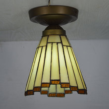 Tiffany Small Ceiling Light Stained Glass Lampshade Modern Brief Bedroom Kitchen Fixture E27 110-240V