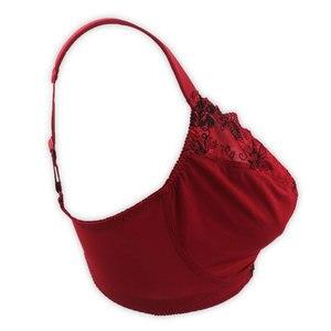 Image 2 - חדשות ווג אדום נוסף/בתוספת גודל רקמה פרחונית חזייה סקסית לנשים/נקבה/גברת, Lingeries BRB001 מתנת הווה מאהב נוח