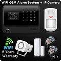 G90B 2.4 Г Wi-Fi GPRS GSM SMS Беспроводной Домашней Безопасности Сигнализация IOS Android APP Пульт Дистанционного Управления Датчика Детектора