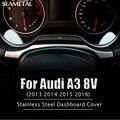 Car Styling Stainless Steel Dashboard Rrim Ring Decoration Frame For Audi A3 8V Sedan Hatchback Sportback 2013 2014 2015 2016