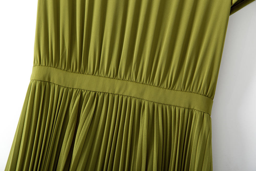 Haute Nu Femmes Robes couleur Vert Français Bowknot 2018 Deux Plis Dos Pour Nouveau Formelle Et Style Qualité Noir Longue Noir vert Déesse Vêtements 5PqUcqvX