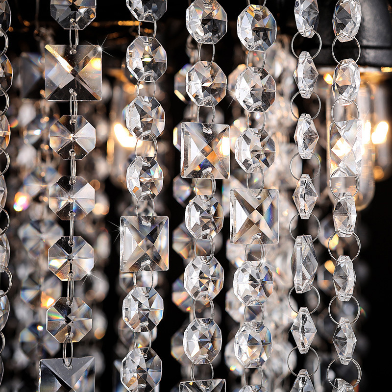 Creative Iron River Crystal pendant lights Hotel Villa Lobby lamp Retro Loft Living Room Restaurant pendant lamps ZA SJ109
