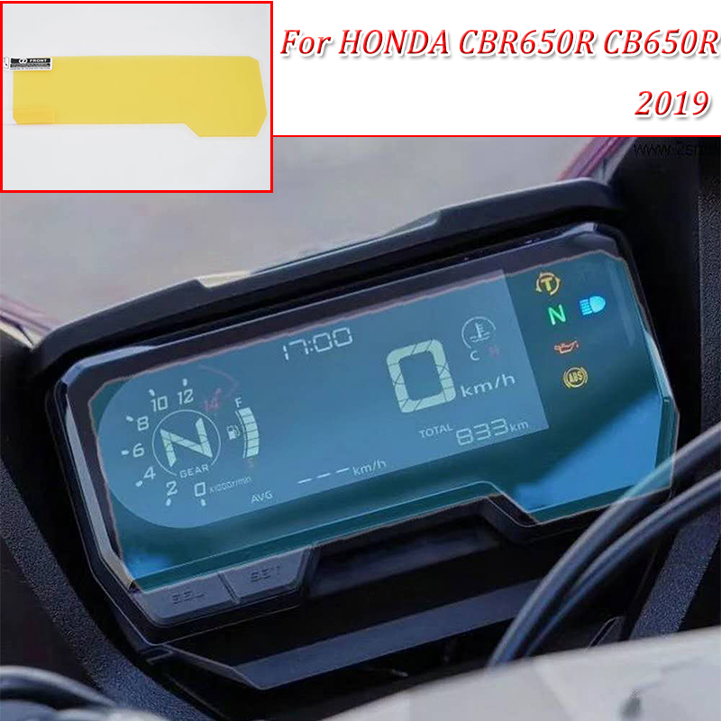 CBR650R CB650R moto Cluster Scratch Protection Film Instrument Dashboard Cover Guard TPU Blu-ray for HONDA 2019 CBR650R CB650R(China)