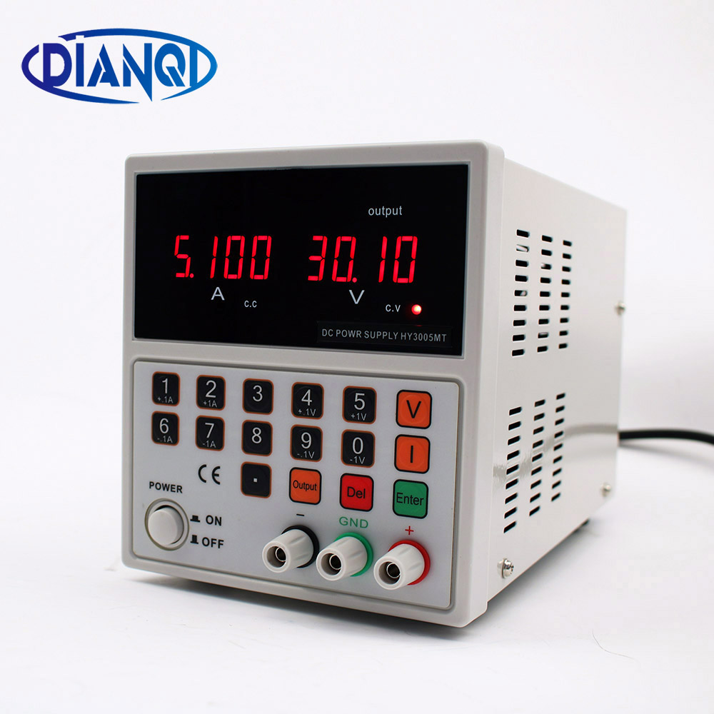 single CNC adjustable DC reply power supply switch  30V 5A  HY3005MT cps 6011 60v 11a digital adjustable dc power supply laboratory power supply cps6011