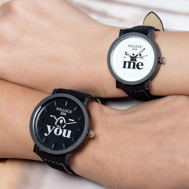 Hot Sale You Me Lovers' Quartz Watch Women Men Wrist Watches Ladies Wristwatch F