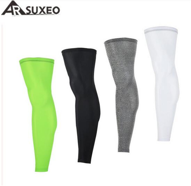 ARSUXEO Outdoor Sports Cycling Legwarmers font b Football b font Soccer Leggings Running Jogging Basketball Leg