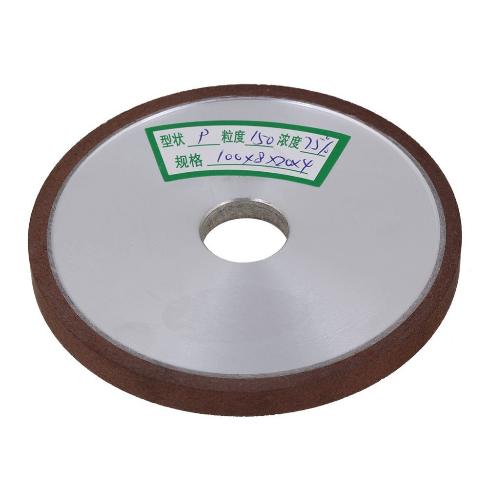 150# Grit Flat Disc Straight Silver 100x8x20mm Diamond Aluminum Resin Grinder Grinding Wheel With
