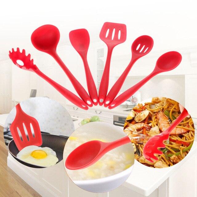 High Quality 6PCs/Set Food Grade Silicone Kitchen Tools Non Stick ...